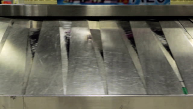 Baggage conveyor belt in the airport video