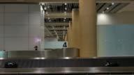 Baggage conveyor belt in the airport video