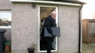 Bailiff / Debt collector / Enforcement agent Repo Man removes TV :CRANE video