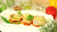 Baked fish with salsa vegetables video