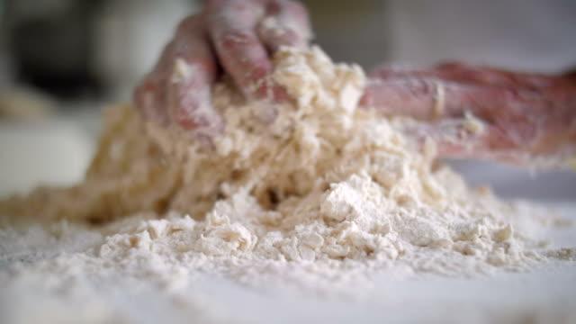 Baker hands preparing the dough video