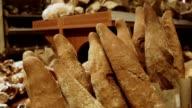 Bakery aisle in supermarket video