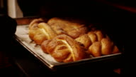Bakery. Making bread, confectionery. Assorted cakes and desserts. Сombination. video