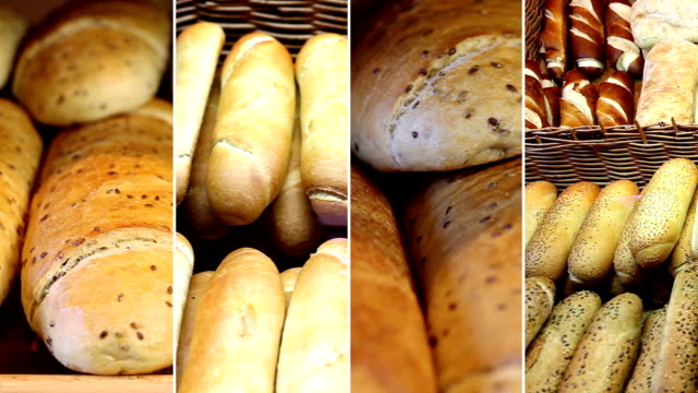 Bakery products. Video Wall video
