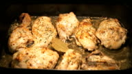 Baking chicken legs in the oven video