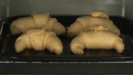 Baking croissants video