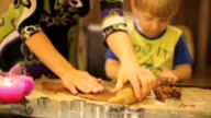 Baking gingerbread for Xmas video