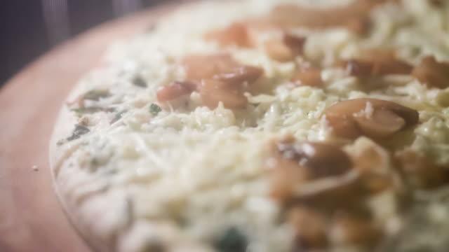 Baking Pizza Timelapse CU video