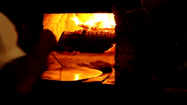 Baking pizza. video