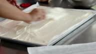baking sweet food, Kneaded dough video
