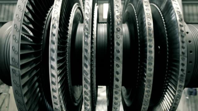 balancing steam turbine frontal video
