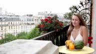 Balcony Paris Woman video