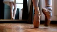 Balerina practicing ballet video
