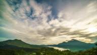 Bali Mount Batur Sunrise time lapse 4K video