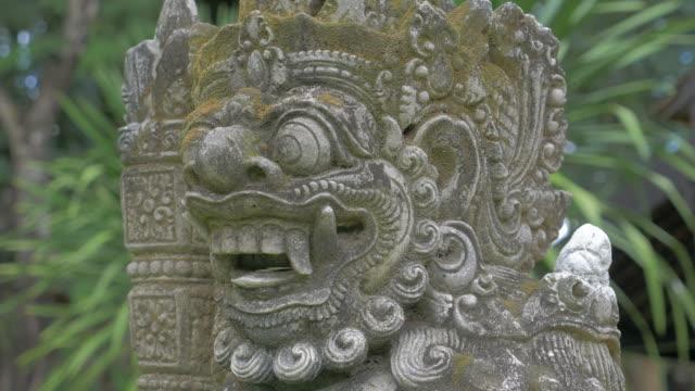 Balinese Carved Stone Statue of Rakasa Hindu Temple video