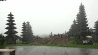 WS Balinese Temple Pura Besakih In Storm video