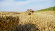 WS Baling hay on the field video