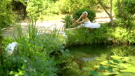 ballerina dancing at the reflecting pool video