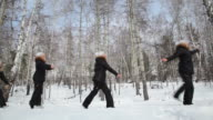 Ballet in the woods, Loopable video