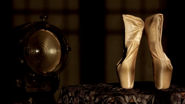 Ballet  Slippers and Stage Light video