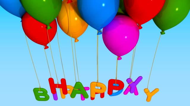 balloon happy birthday video