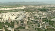 Balloon view of Fairy Chimneys, Cappadocia Turkey video