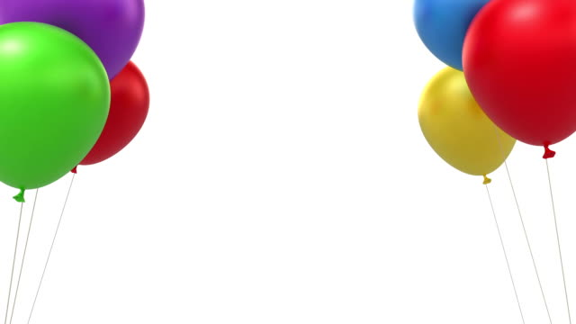 Balloons background video
