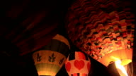 Balloons festival in the night time video