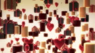 Balloons, Hearts, Candle, Flowers Flying. video