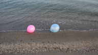 Balloons on the beach. video