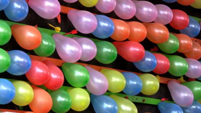 Balloons Popping At An Amusement Park (HD 1080p30) video