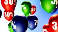 Balloons Sale Percents (Loop) video