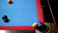 Balls on pool table video