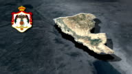 Balqa with Coat Of Arms Animation Map video