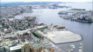 Baltimore Harbour  - Aerial View - Maryland, City of Baltimore, United States video