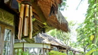 bamboo wind chime at a bungalow video