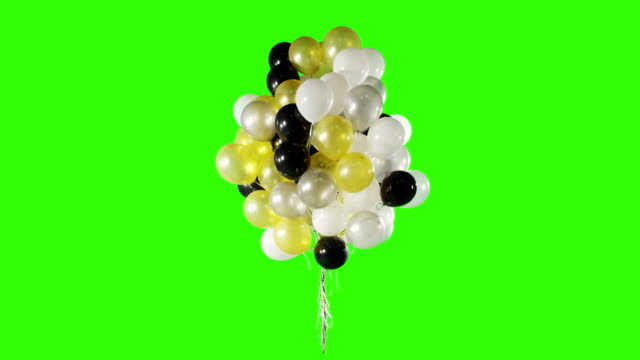 Banch of balloons spinning video