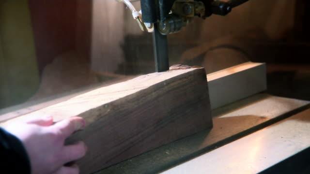 Band Saw Cutting Wood MS in HD video