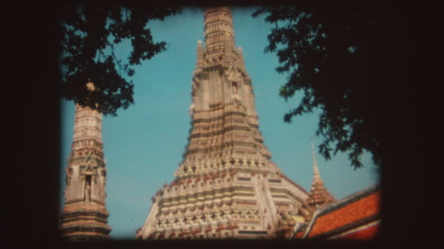 Bangkok Buddhist Temple, Vintage Super 8 video