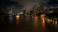 Bangkok ChaoPhraya River Hotels Day-to-night Motion Time-lapse video
