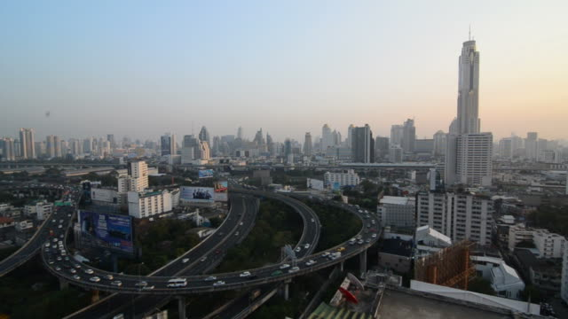 Bangkok city and highway traffic jam video