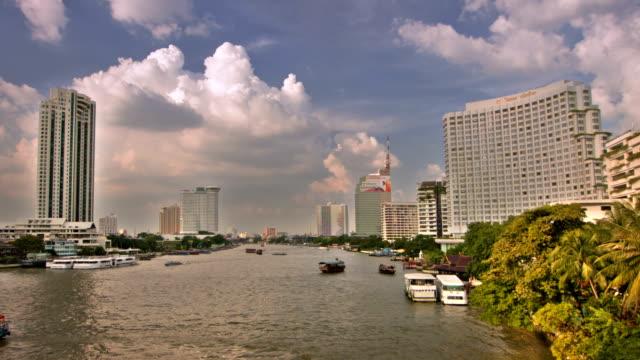 Bangkok city and river video