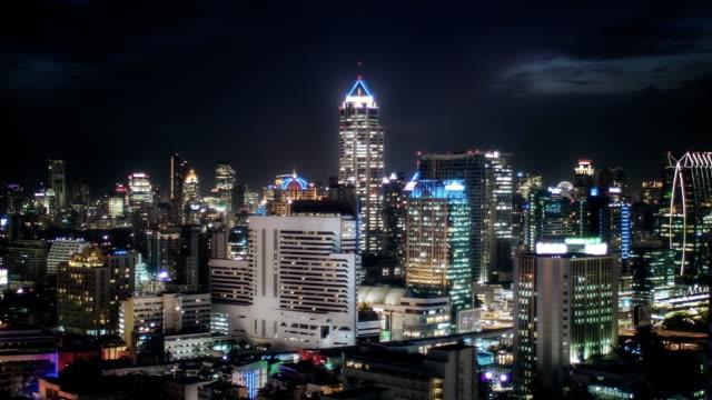 bangkok city at night video