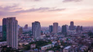Bangkok city skyline time lapse from day to night, 4k Video video