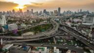bangkok city traffic timelapse video. 4k format video