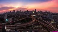 bangkok city traffic timelapse video video