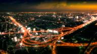 Bangkok cityscape at sunset timelaps video