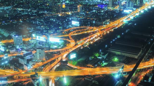 Bangkok Cityscape, Business district with high building at dusk (Bangkok, Thailand) video