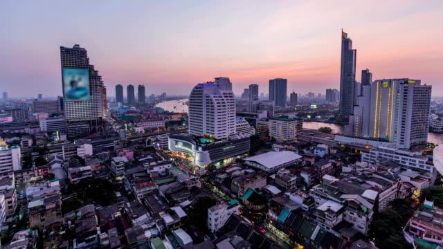 Bangkok Cityscape Time Lapse Dusk video