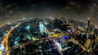 Bangkok Cityscape Time Lapse Fisheye video